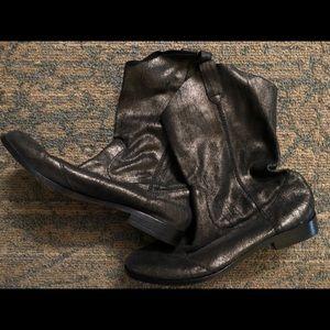 Cynthia Vincent Metallic Slouch Cowboy Boot Sz 8